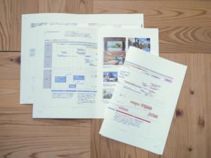 営業資料などの図版をもとに構成案